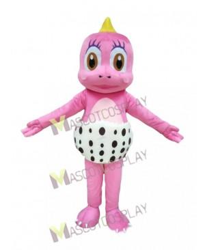Pink Little Dinosaur Mascot Costume Pink Funny Dinosaur in Egg