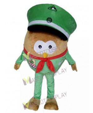 Adult Green Hat Big Body Owl Mascot Costume