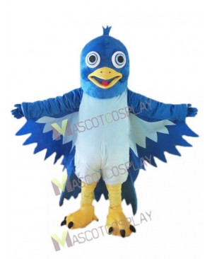 High Quality Realistic Little Blue Bird Mascot Costume