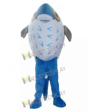 Lovely Blue Fish Mascot Costume