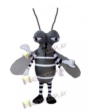 Gray Mosquito Mascot Costume Insect Mascot Costume