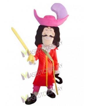 Adult Viking Pirate Captain Hook Mascot Costume