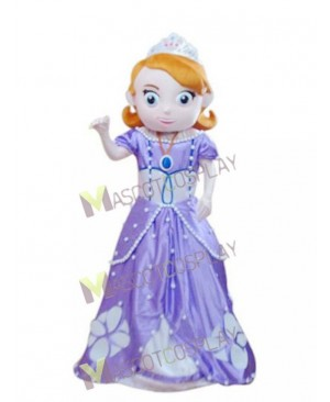 Sofia the First Princess Sophia Mascot Costume Fancy Dress Outfit