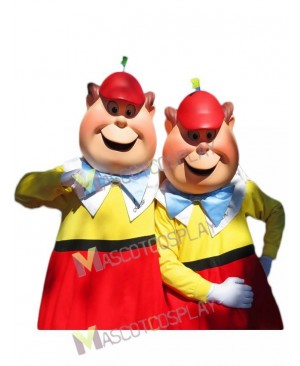 Cartoon Tweedle Dee & Tweedle Dum from Alice in Wonderland Mascot Costume