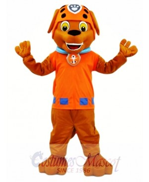 Hot Sale Adorable Realistic New Popular Chocolate Labrador Pup Water Rescuer Paw Patrol Zuma Dog Mascot Costume