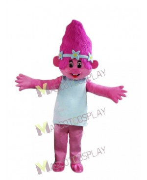 Lovely Trolls Girl Poppy Mascot Costume Pink Girl Mascot Costume