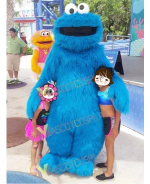 Sesame Street Blue Cookie Monster Mascot Costume