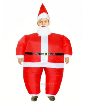 Santa Claus Inflatable Halloween Christmas Xmas Mascot Costumes Cartoon For Kids