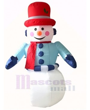 Christmas Inflatable Snowman with LED Lights Outdoor Indoor Holiday Decoration Yard Lawn Home Outside Art Decor