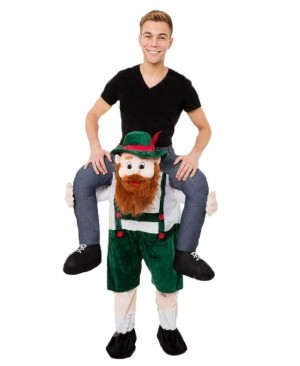 Piggy Back Carry Me Bavarian Beer Guy Ride Mascot Costume Fancy Dress