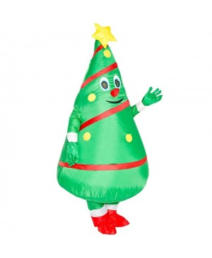 Christmas Tree Inflatable Costume Adults Blow Up Suit Halloween Party Cosplay Mascot