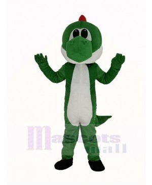 Green Dinosaur Yoshi from Super Mario Mascot Costume Cartoon