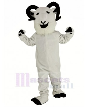 New White Sheep Big Horned Mascot Costume Animal