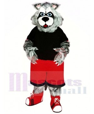 Sporty Wolverine Mascot Costume