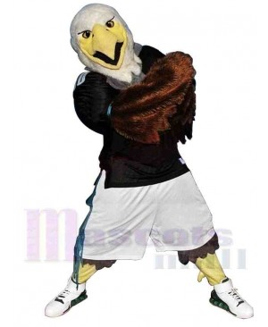 Sporty Fierce Eagle Mascot Costume