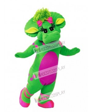 Barney Baby Bop Green Triceratops Mascot Costume