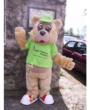 High Quality Adult Tan Bear Mascot Costume