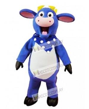Blue Benny The Bull Mascot Costume