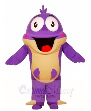 Big Purple Fish Mascot Costumes Sea Ocean