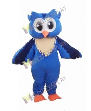 Adult Friendly Big Blue Owl Mascot Costume