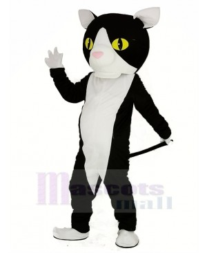 Black and White Cat Mascot Costume Animal