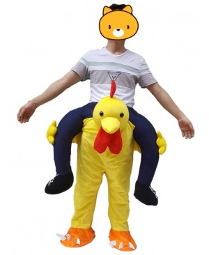 Carry Me Yellow Chicken Chick Piggy Back Mascot Costume