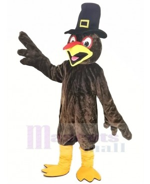 Thanksgiving Turkey with Hat Mascot Costume