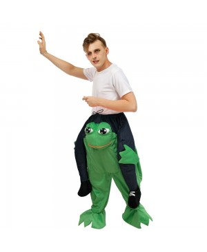Big Eyes Frog Carry me Ride on Halloween Christmas Costume for Adult