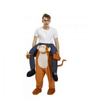 Gorilla Monkey Carry me Ride on Halloween Christmas Costume for Adult/Kid