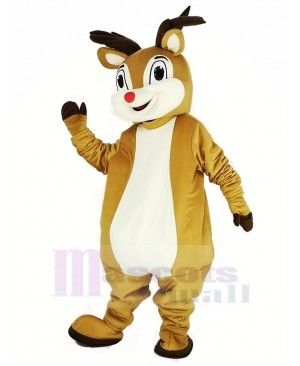 Red Nose Rudolph Reindeer Mascot Costume Animal