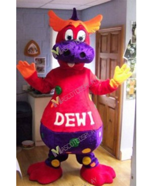 High Quality Adult Dewi The Dragon Mascot Costume