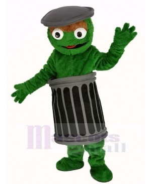 Funny Sesame Street Oscar The Grouch Mascot Costume