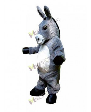High Quality Adult Gray Donkey Hospice Mascot Costume