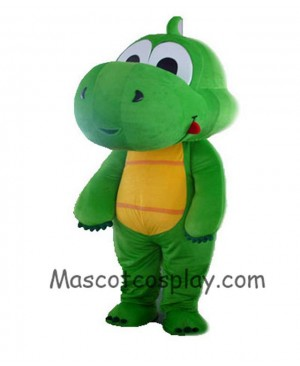 High Quality Realistic New Grass Green Dragon Mascot Costume Adult Size Can Be Customized Mascot Costume
