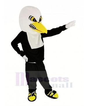 White Eagle with Black Coat Mascot Costume Adult
