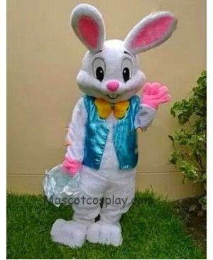 Easter Bunny Mascot Costume Bugs Rabbit Hare Adult Fancy Dress Cartoon Suit