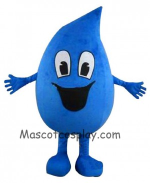 High Quality Realistic New Blue Raindrop Sea Water Drop Plush Mascot Costume