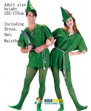 Cosplay Peter Pan Costume Child Kids Cartoon Movie Costume Sexy Women Girls Boys Peter Pan Costume