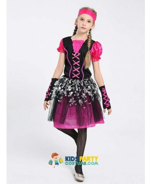 Girls Pirate Buccaneer Book Week Fancy Dress Halloween Costume