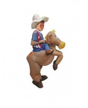Kids Inflatable Cowboy Costume Halloween Children Cosplay Christmas
