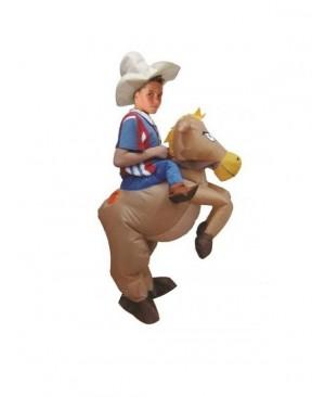 Kids Inflatable Cowboy Costume Halloween Children Cosplay Christmas