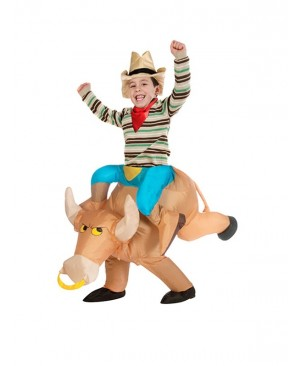 Kids Inflatable Bull Costume Halloween Children Cosplay christmas