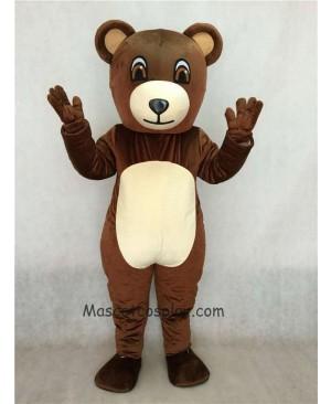 High Quality Realistic Animal Chocolate Bear Mascot Costume