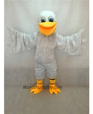 Hot Sale Adorable Realistic New White Pelican Bird Mascot Costume