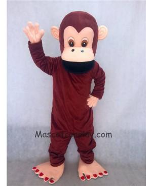 Hot Sale Adorable Realistic New Brown Gorilla Mascot Adult Costume