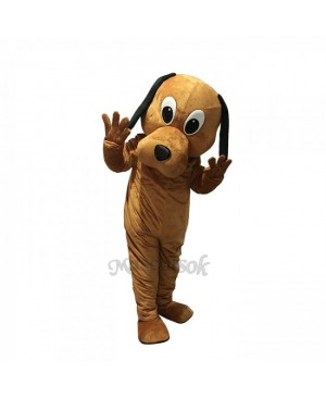 New Tan Dog Black Ears Costume Mascot