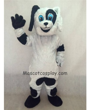 Hot Sale Adorable Realistic New Black and White Spot The Dog Mascot Costume