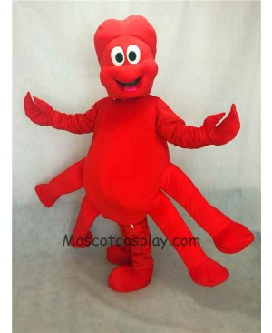 Hot Sale Adorable Realistic New Strange Red Claw Mascot Adult Costume