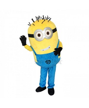 Lovely Grinning Despicable Me Minions Mascot Costume Custom Carnival Costume B