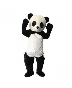 Lovely Black And White Panda Plush Adult Mascot Funny Costume